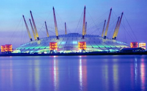 millennium-dome-at-dusk